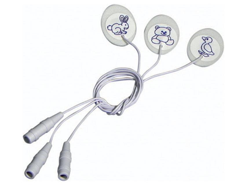 DISPOSABLE SPUMA ELECTROZI 23-30 mm - oval cu fir - pediatrie