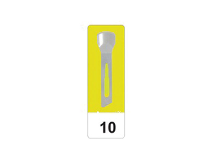 Lama de bisturiu din otel carbon N 10 - sterile
