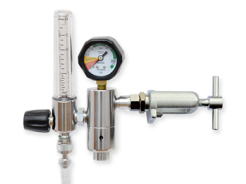 Reductor de presiune cu debitmetru și humidif. - PIN INDEX