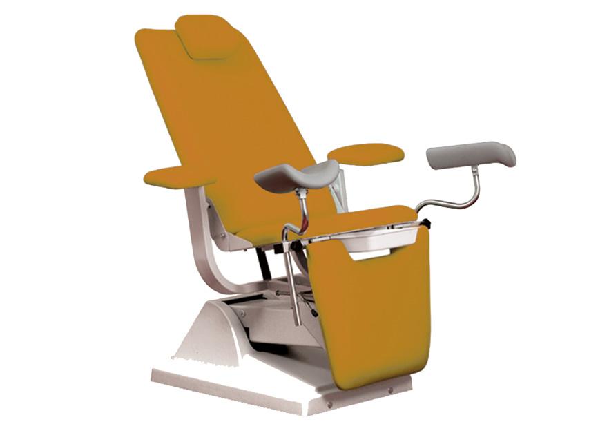 Gynex SCAUN ginecologic-pat cu suport rola - caise din metal