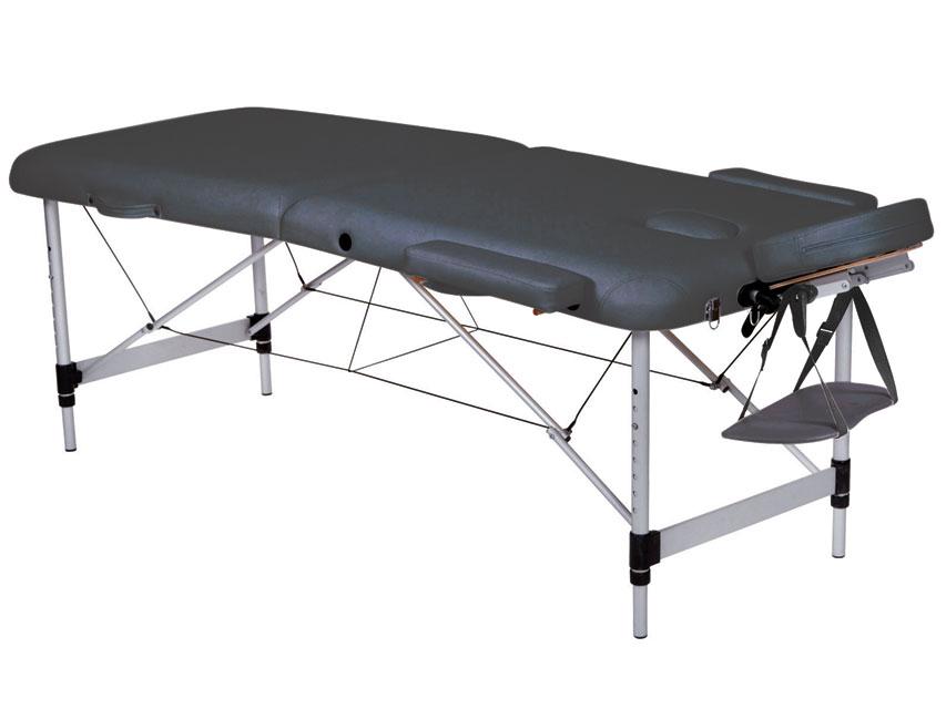 Masa de masaj cu 3 sectiuni, aluminiu - negru