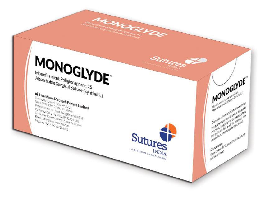 MONOGLYDE - nailon polipropilena resorbabil sutură  monofilament 2/0 cerc 1/2 ac 30mm - 70cm - nevopsit