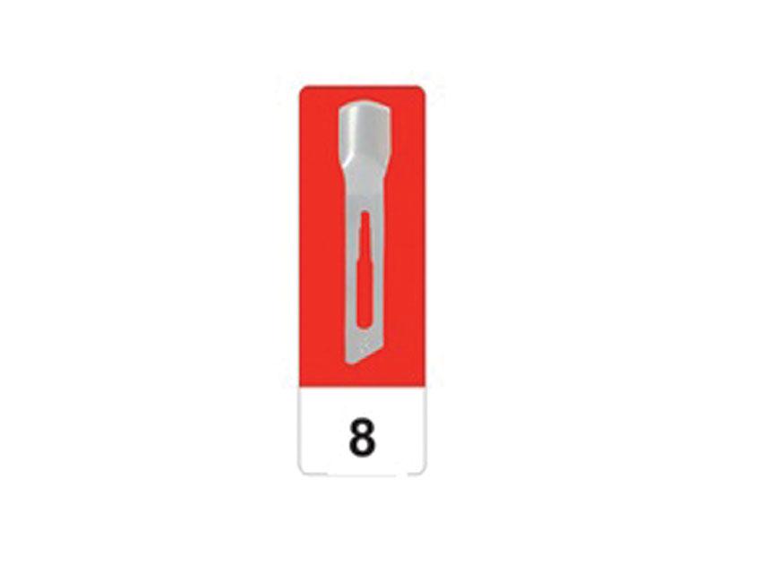 Lama de bisturiu din otel carbon N 8 - sterile