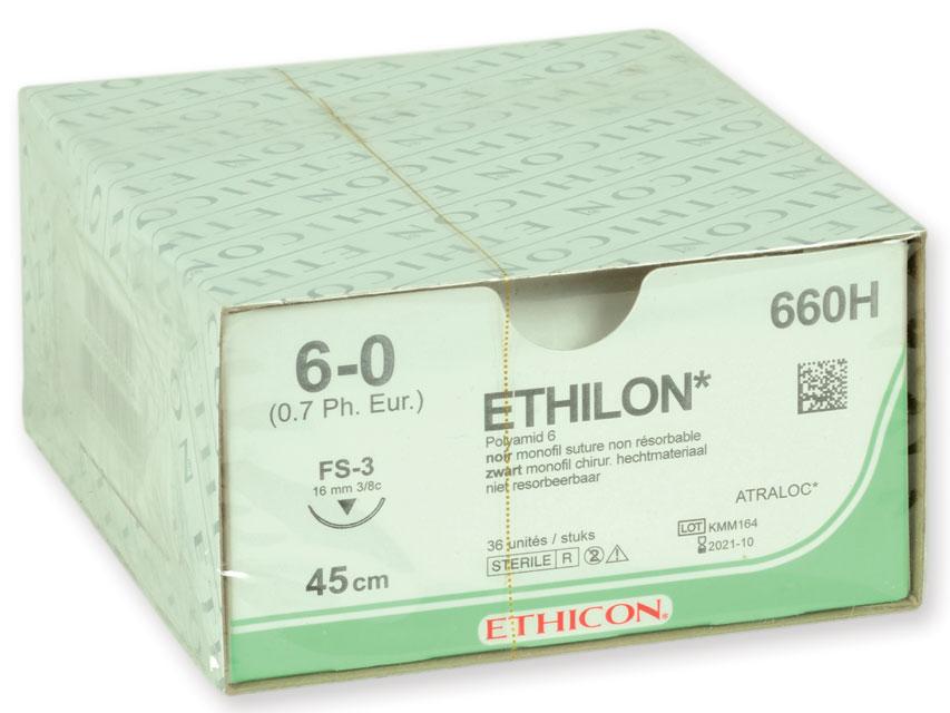 Fir de sutura ETHICON - ecartament 6/0 ac 16 mm