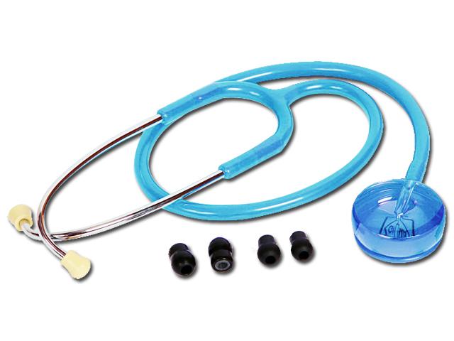 PROIECTARE stetoscop - albastru deschis transparent
