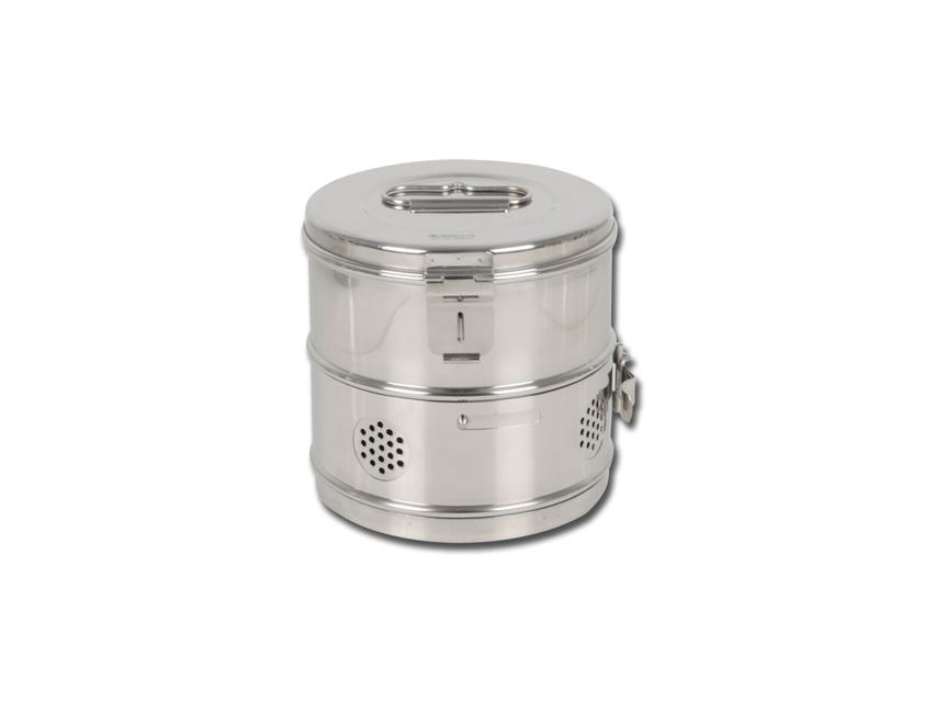 Casoleta rotunda, otel inoxidabil 180xh180 mm